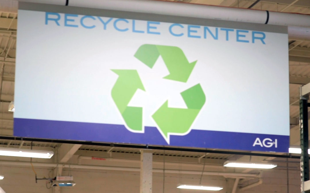 Staying Green: AGI's Recycling Center